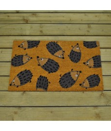 Dizzy Hedgehogs Design Coir Doormat by Gardman