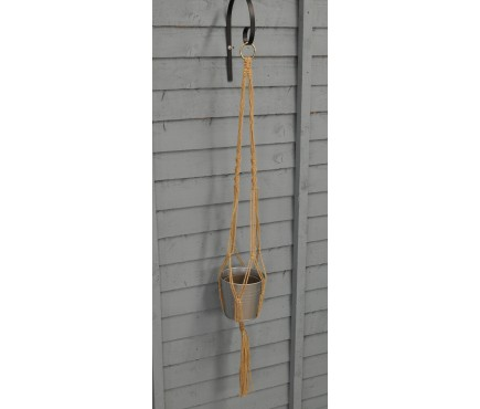 Set of 4 Jute Rope Hanging Plant Pot Holders (30cm)