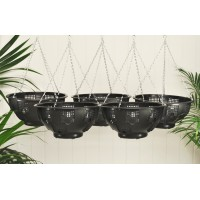 Set of 5 Easy Fill Hanging Baskets (36cm)