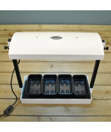 Electric Micro Grow Light Plant Propagator in White by Garland