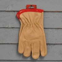 Pro Gold Men's Full Leather Gardening Gloves by Kingfisher