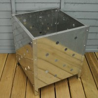 Square Metal Garden Incinerator by Kingfisher