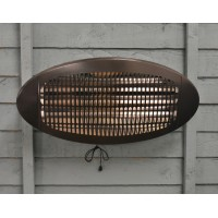 Wall Mounted Electric Patio Heater by Kingfisher
