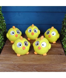 Set of 5 Bright Eyed Happy Chick Spot Lights (Solar) by Smart Garden