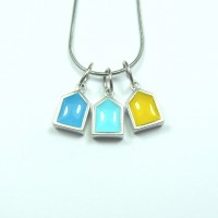 Waterfront Beach Hut Pendant Necklace