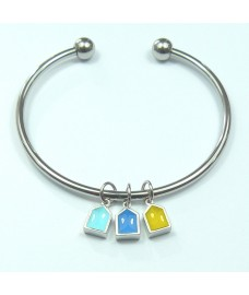 Waterfront Beach Hut Bangle Bracelet
