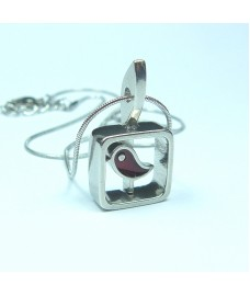 Red Robin Pendant Necklace