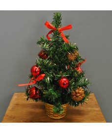 Christmas 30cm Red Dressed Table Top Tree by Premier