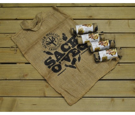 Pack of 5 Sack Of Veg Natural Jute Bags by Nether Wallop Trading
