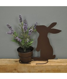 Metal Rabbit Silhouette Shaped Garden Planter by Rustic Garden