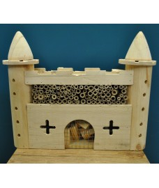 Factory Second - Wooden Castle Fort Insect Hotel Habitat for Bees & Butterflies