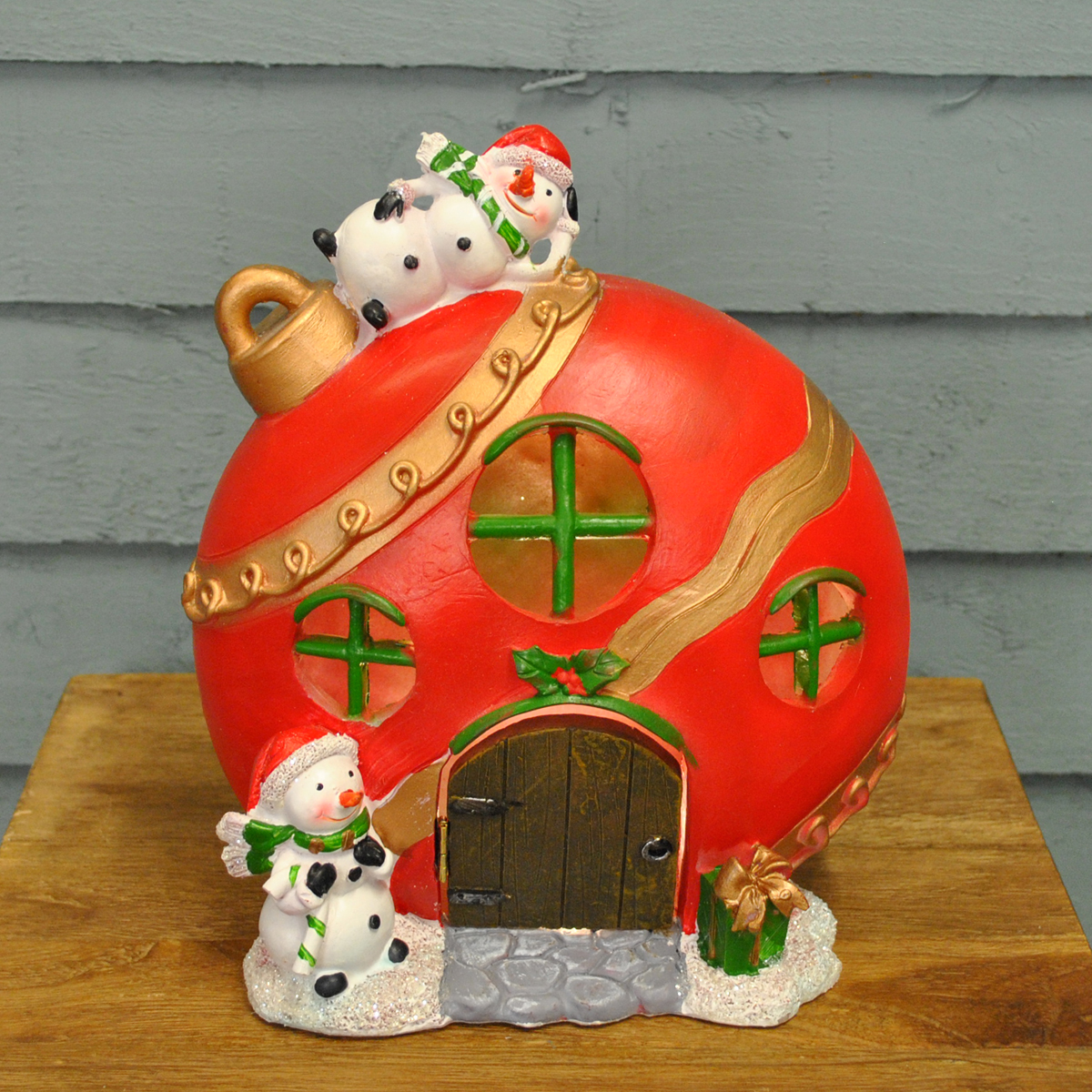 Christmas Scene Bauble House Ornament Light by Three Kings